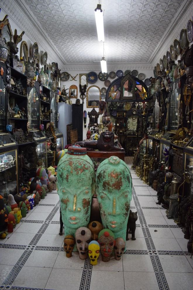 Marrakech medina souqs máscaras