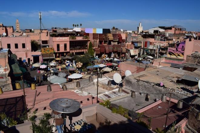 Marrakech medina vista praça tempeiros place epices