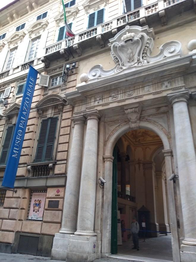 Genova centro historico palacio real