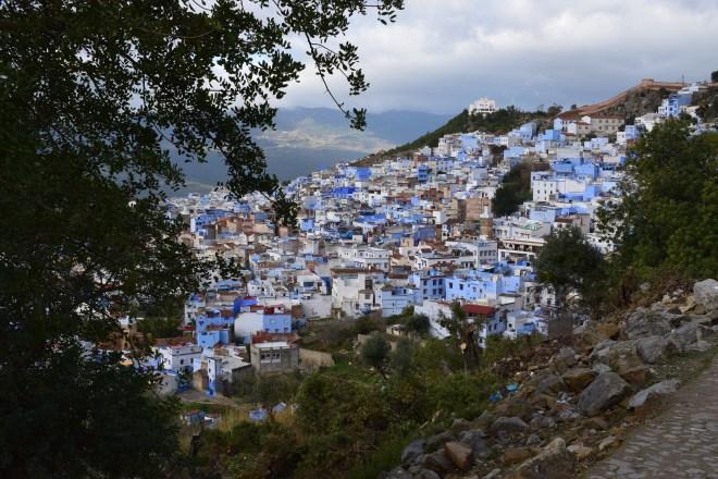 Marrocos Chefhaouen cidade azul trilha mesquita espanhola vista medina