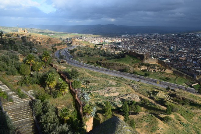 Marrocos Fez vista fortaleza medina borj nord