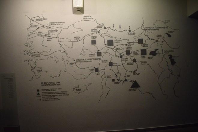 Armênia yerevan memorial genocídio rota marchas morte campos concentração
