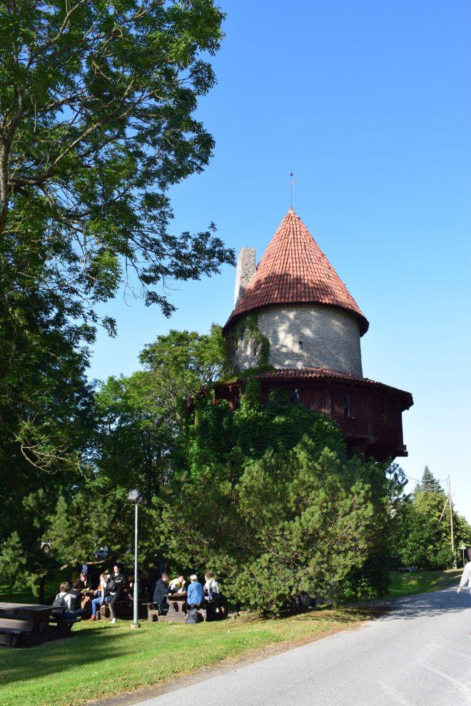 Excursão lazer soviético estonia torre medieval fazenda coletiva 2