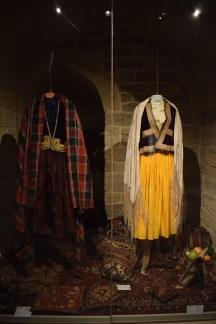 Baku palácio Shirvanshah roupas tipicas