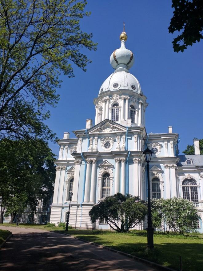 Petersburgo bairro Smolni monasterio
