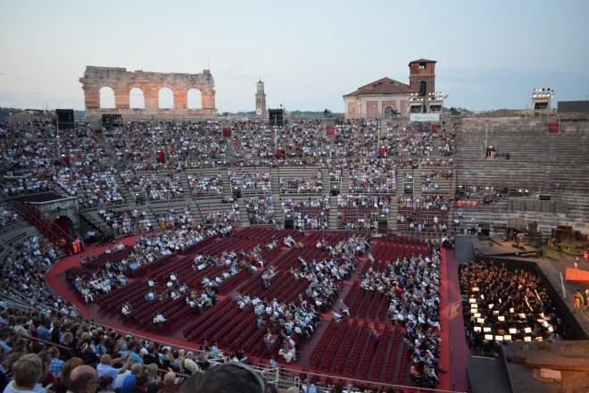 Verona vendo ópera na arena 2