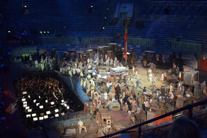 Verona vendo ópera na arena 4