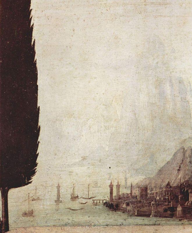 Galeria Uffizi Florença da vinci anunciação detalhe