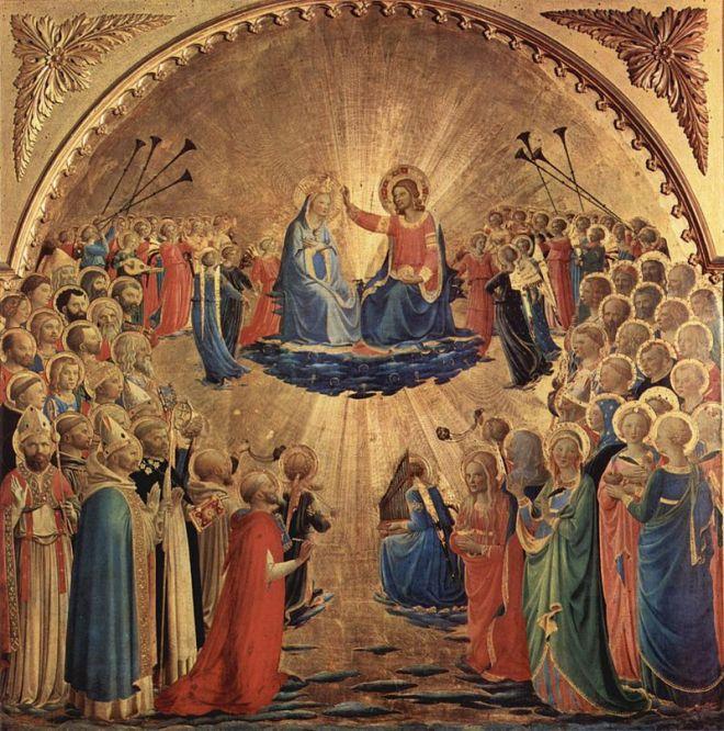 Galeria Uffizi Florença Fra Angelico coroação virgem