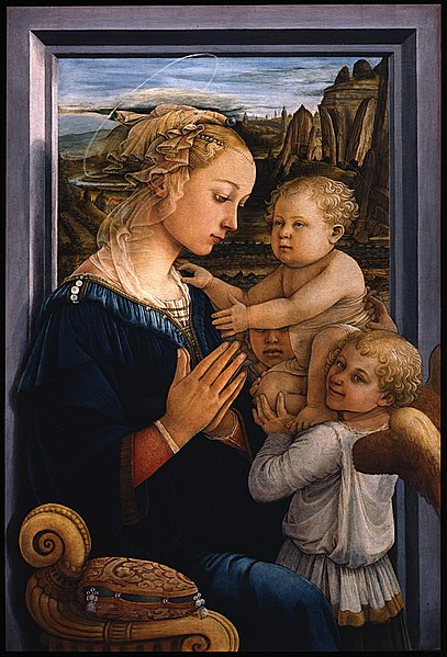 Galeria Uffizi Florença lippi madonna menino