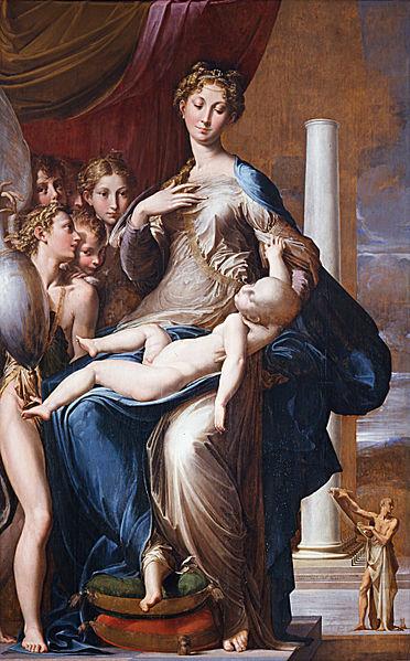 Galeria Uffizi Florença parmigiano madonna pescoço longo
