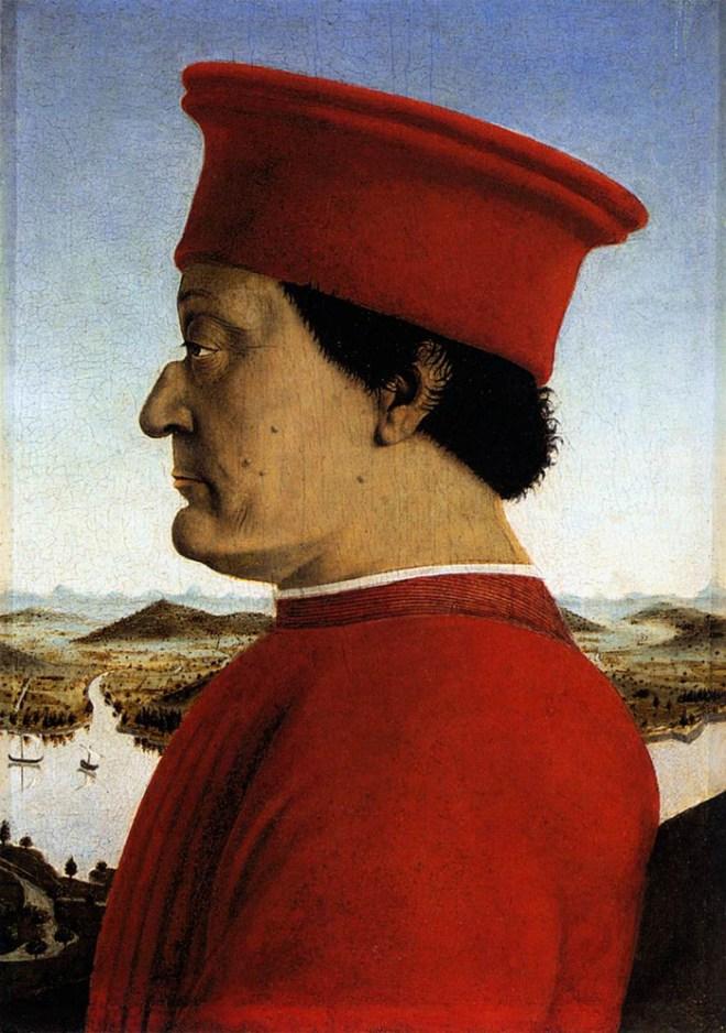 Galeria Uffizi Florença piero della francesca federico montefeltro