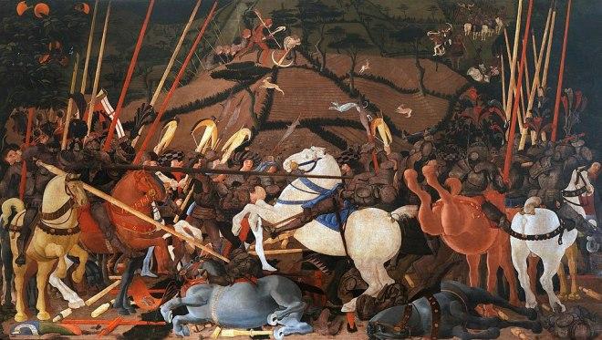 Galeria Uffizi Florença uccello batalha san romano