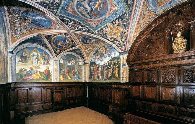 Perugia palazzo priori sala udienza collegio cambio