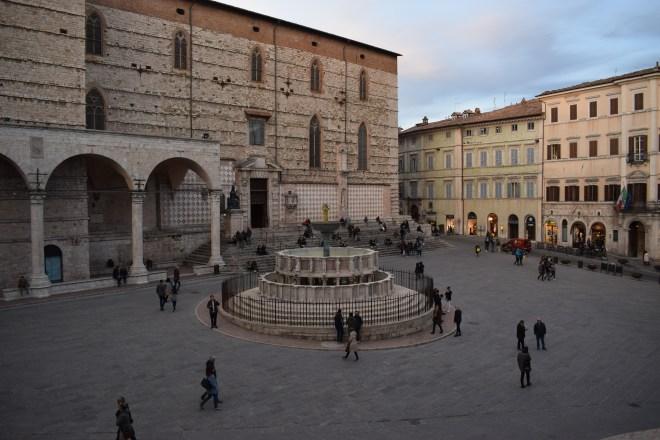Perugia piazza iv novembre praça central