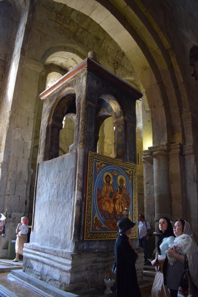 Georgia Mtskheta catedral Svetitskhoveli afrescos renovados