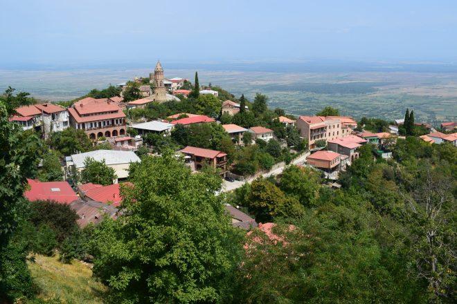 Georgia Sighnaghi vista centro historico