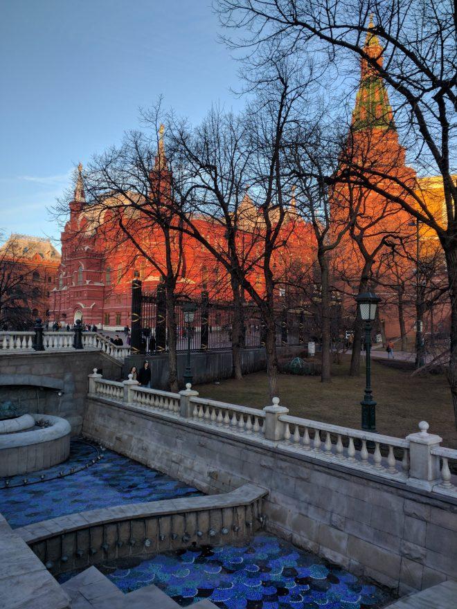 Moscou avenida Tverskaya praça manege 2