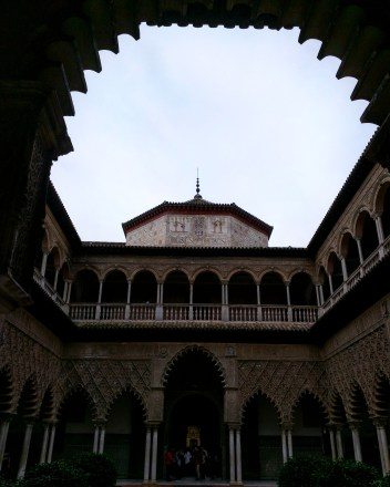 Alcazar Sevilha palácio patio donzelas 4