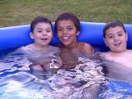 Swimming with cousins Austin & Mitchell