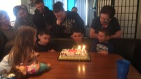 10th birthday fun with his family