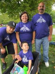 Having fun with Dad, Vavo & Vovo at the walk
