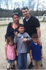 Horse show with His Godparents & cousins