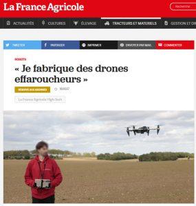 article frande agricole drone effaroucheur