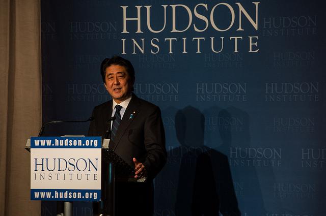 日本首相安倍晉三。(Hudson Institute)