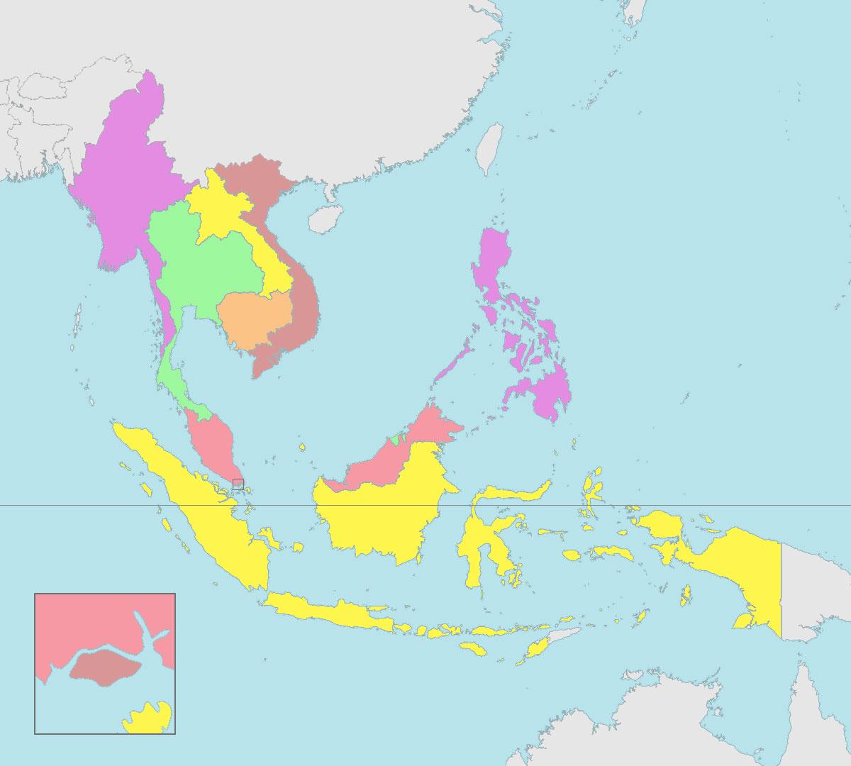 Asean Map Blank