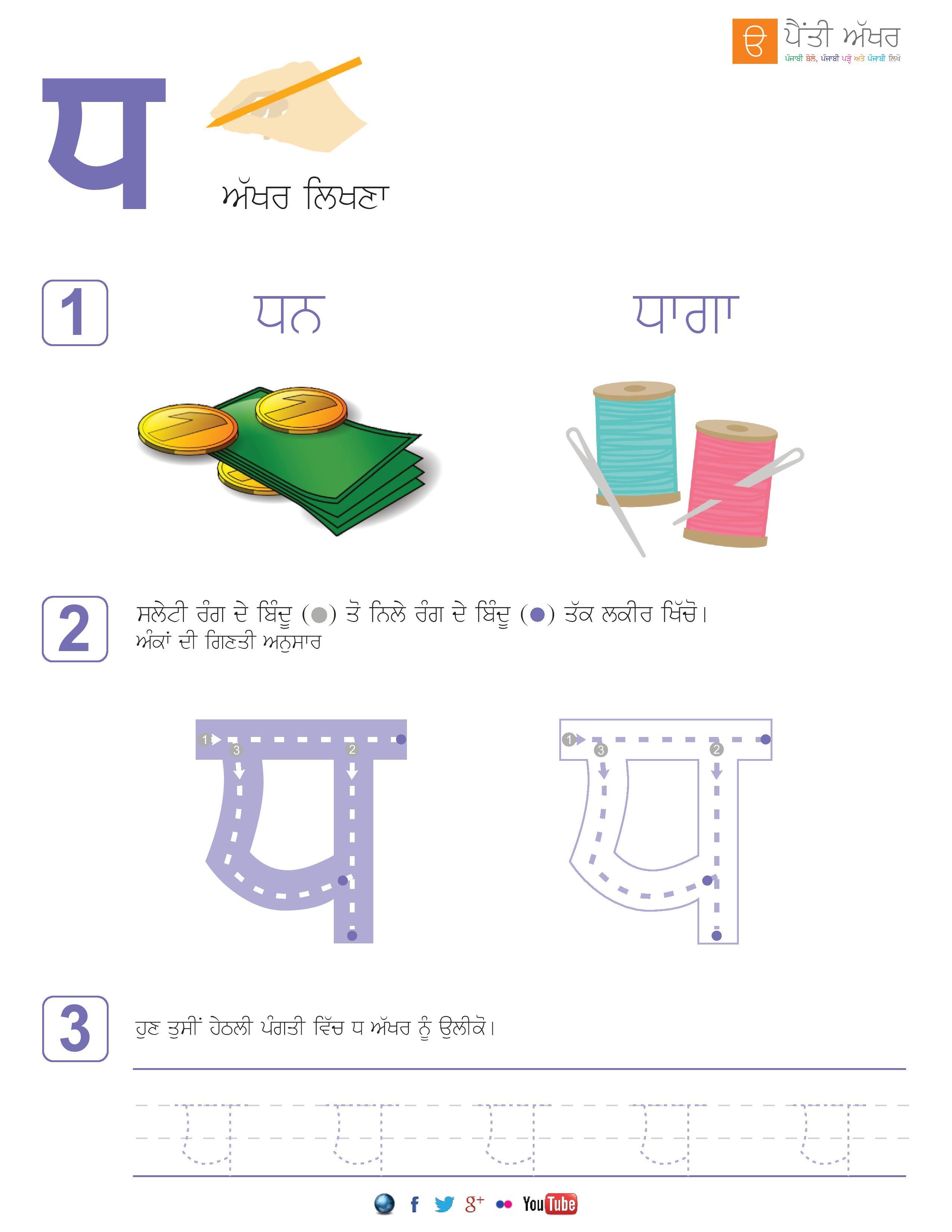 Punjabi Alphabets Worksheets Page 24 Aseen