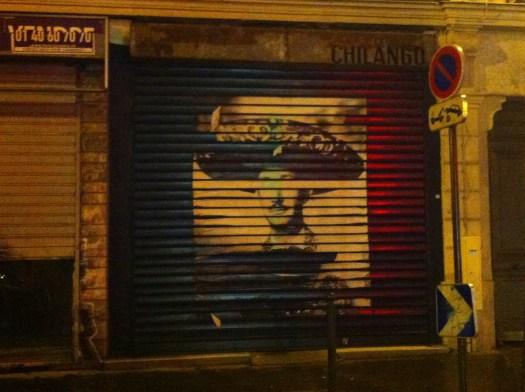 Negrete que no siente. Calle De la Folie-Méricourt en París Francia. Distrito 11. Febrero 2015. |