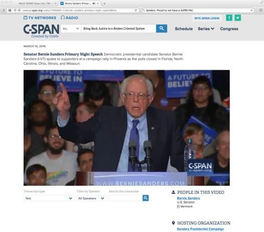 C-SPAN Sanders