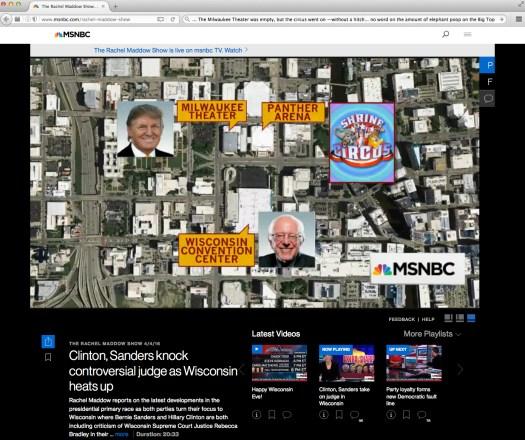 Momus meltdown mojo. Only on MSNBC.