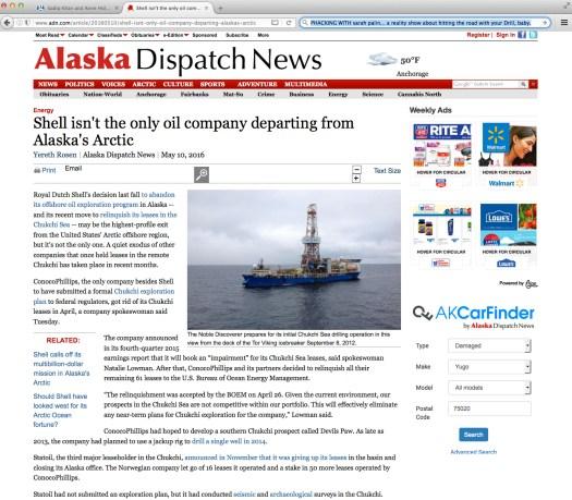 Uso justo de las noticias de Alaska. | Uso justo de los medios.