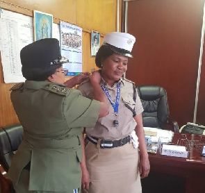 Constable Charity Nanyangwe has been promoted to the rank of Sergeant. Commissioner of Police