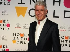 Anthony Bourdain in New York City in April