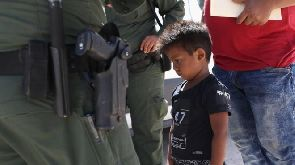 Children separated from their parents at the border are classed as unaccompanied minors
