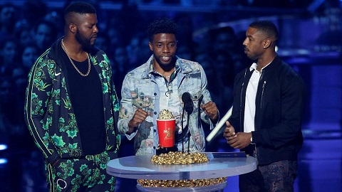 The stars of Black Panther at the MTV awards