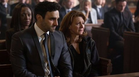 Bonnie Langford, right, plays Shakil's mother Carmel, with Davood Ghadami as his brother Kush