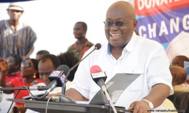 President Akufo-Addo speaking at the Delegates Conference