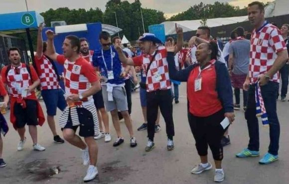 Senator Millicent Omanga attended the Croatia-England semi-final