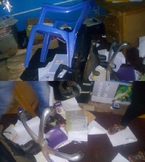The angry supporter stormed the constituency office to beat up their constituency secretary
