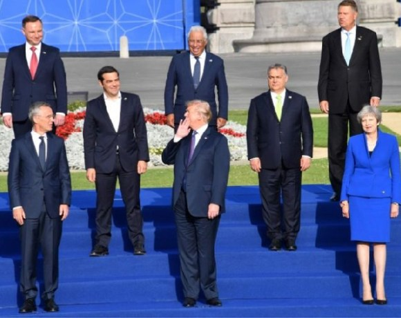 The first day of the summit saw tense exchanges over defence spending
