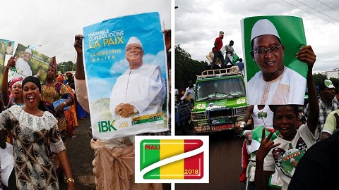 President Ibrahim Boubacar Keita could not win enough votes to simply win