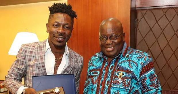 shatta and Nana Addo