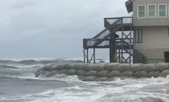 Flooding from Florence in New Bern, North Carolina