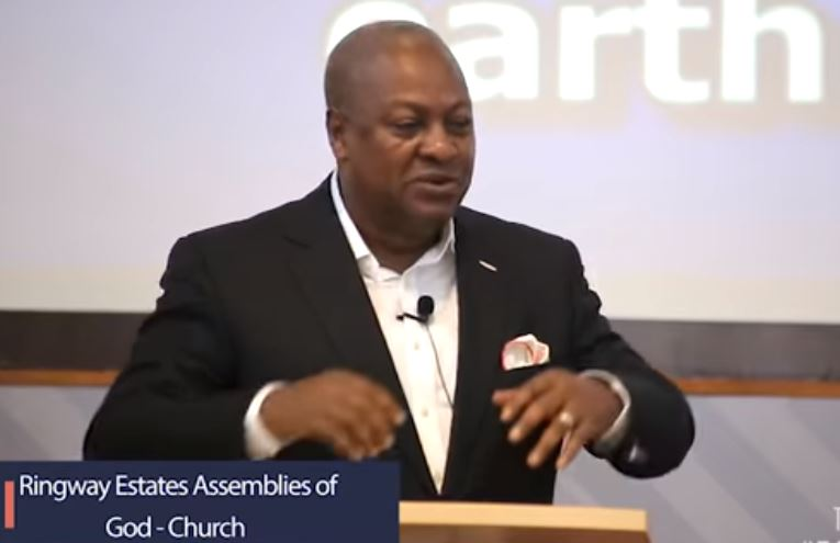 John Mahama preaches, Ghana Political News Report Articles