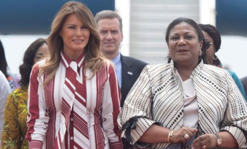 Mrs Trump and Mrs Akufo-Addo
