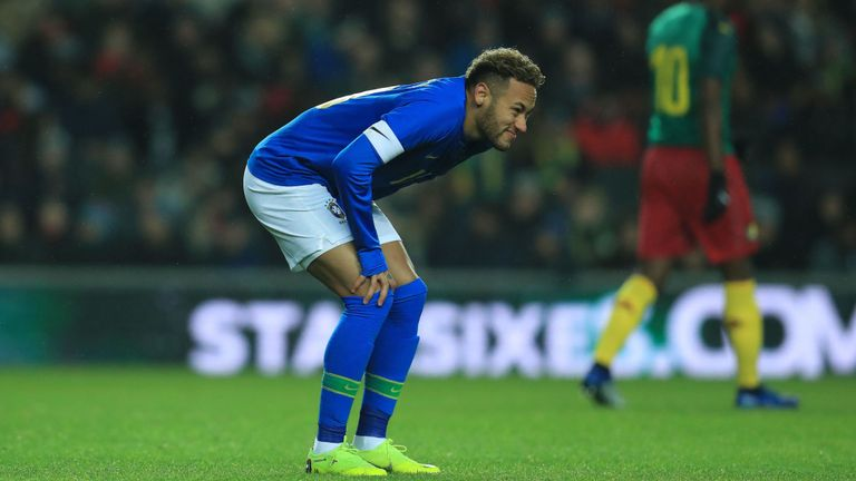 Brazils-Neymar-was-forced-off-in-the-first-half-against-Cameroon